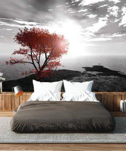 Fototapeta z morzem i drzewem