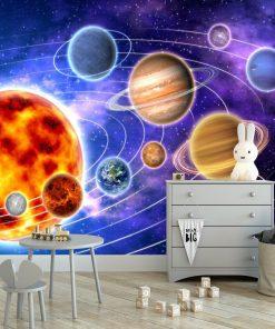 Tapeta dziecięca - układ słoneczny