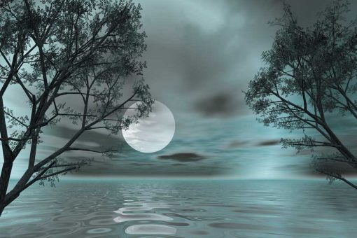 Fototapeta z księżycem