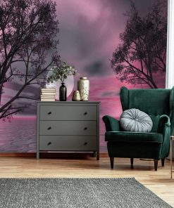 Fototapeta z fioletowym krajobrazem