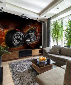 fototapeta z motocyklem