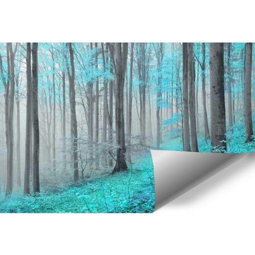 Turkusowy las - tapeta
