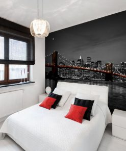 fototapeta nocna panorama Manhattan