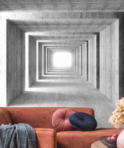 Fototapeta szary tunel