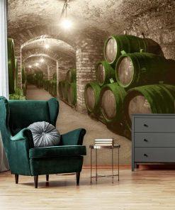 Winnica z zielonym akcentem