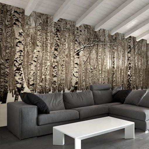 dekoracje z lasem