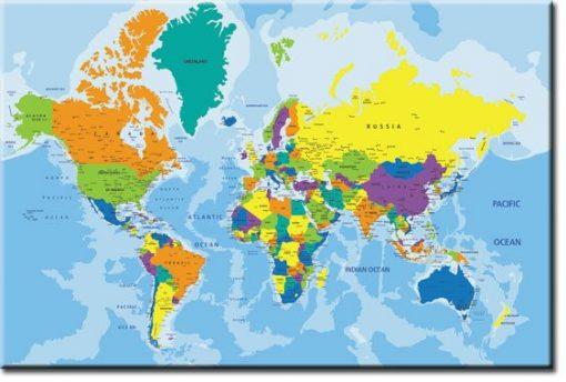 mapa na 艣cianie
