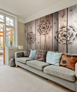 tapety z drewnem