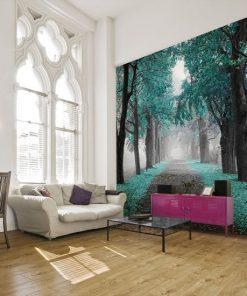 tapety z alej膮 drzew
