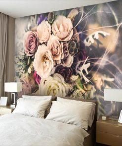 dekoracje z bukietami kwiatów