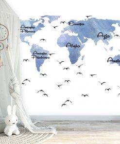 Tapeta mapa i ptaki