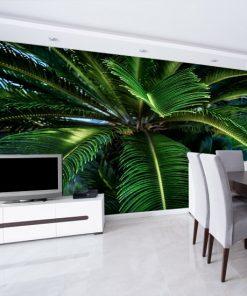 salon z zielonymi liśćmi
