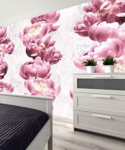 różowe kwiaty na tapecie