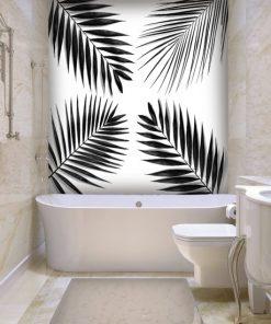 li艣cie palmy w toalecie