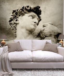 tapeta do salonu z rzeźbą