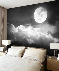 czarno-białe niebo jako tapeta