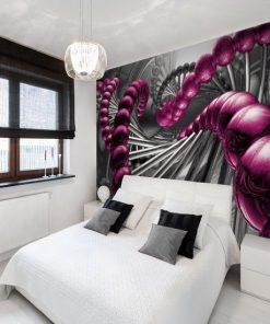 foto tapeta z kulami w kolorze fioletu - amarantowy r贸偶