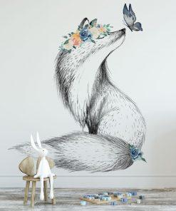 Tapeta na ścianę minimalistyczna z motywem liska