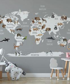 Tapeta zwierzątka na mapie