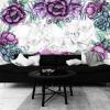 kwiaty i marmur jako dekoracja