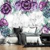 kwiaty na tapecie