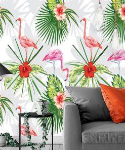flamingi na tapecie