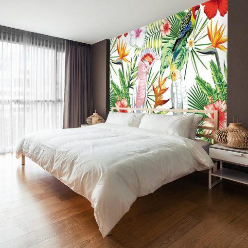 wzory tropikalne na tapecie