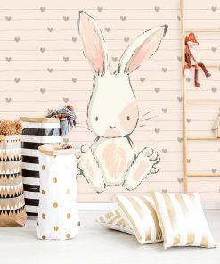 kolorowa tapeta z królikiem