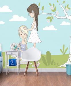 Tapeta króliczki i dziewczynki