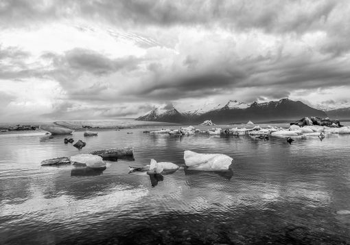 Tapeta lodowce na jeziorze