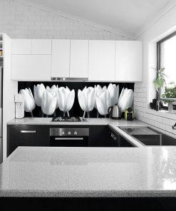 tapeta kuchenna z tulipanami