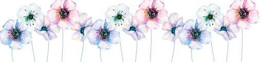 tapeta kuchenna subtelne kwiaty