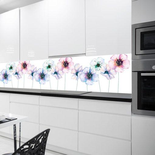 fototapeta kuchenna w kwiaty