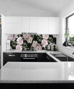 tapeta kuchenna z kwiatami