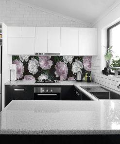 fototapeta kuchenna z motywem piwonii