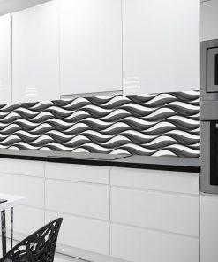 tapeta kuchenna czarno-biała