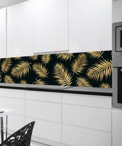 kuchenna fototapeta żółte liście