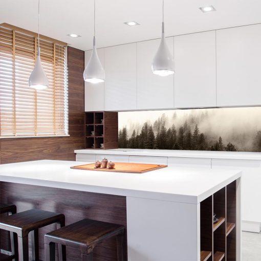 fototapeta kuchenna z krajobrazem lasu
