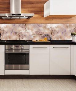 fototapeta kuchenna z imitacją metaliczną