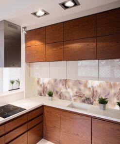 fototapeta kuchenna beżowy marmur