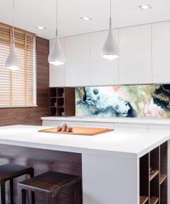 tapeta kuchenna z akwarelowym wzorem