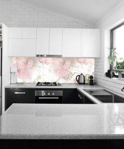 różowa fototapeta kuchenna