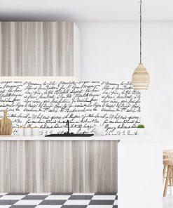 fototapeta z ciekawymi napisami do kuchni