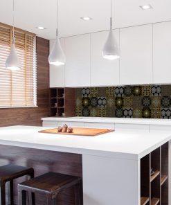 fototapeta z motywem wielu wzorów do kuchni