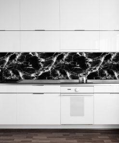 fototapeta z czarno-białym marmurem do kuchni