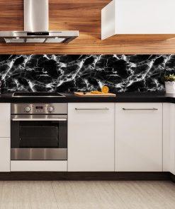 fototapeta z modnym marmurowym wzorem do kuchni
