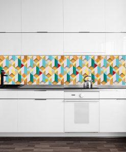 fototapeta kuchenna z geometryczn膮 uk艂adank膮