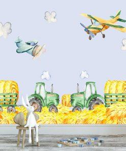 fototapeta z traktorami do pokoju dziecka