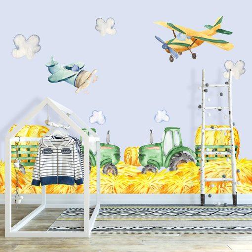 fototapeta z samolotami do pokoju dziecka