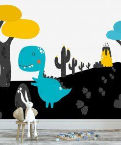 fototapeta dzieci臋ca z dinozaurem do pokoju dziecka